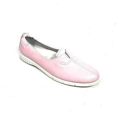 Rohde Pink Leather Slip On Ladies Deck Boat Shoes Size 8 Comfort Flat Loafers