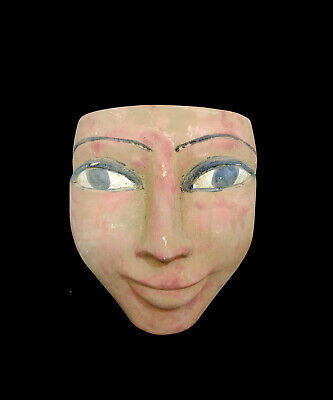 Egyptian Mask King stone Ancient Pharaoh Statue Bust Figurine Sculpture Burial