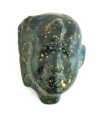 Isis Bust Egyptian Antique Hathor Rare Stone Faience Ancient Goddess Figurine
