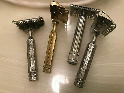 Lot of 4 Safety razor, Gem with Open comb razor, Very nice