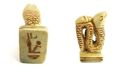 Amulet Snake Pendant Antiques Egyptian Natural stone Antiquities hieroglyphic