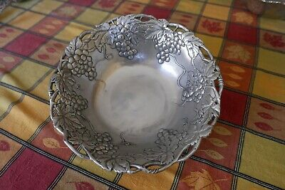 "Arthur Court Grape pattern serving bowl, 12"" diameter"