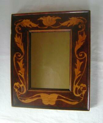Antique Art |Nouveau Wall Mirror Small Size: Stained & Coloured Solid Wood