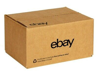"EBay-Branded Boxes Set of 4 New 6"" x 4"" x 4"" Boxes with Black Lettering"