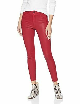 Joes Jeans Womens Charlie High Rise Coated Skinny Ankle Ruby Red sz 24 NWT *Flaw
