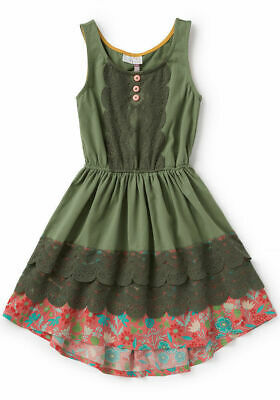 NWT Matilda Jane SZ 10 Peaceful Plains Green Dress Girls Camp MJC NIB