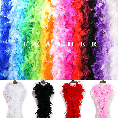2Yd Feather Boa Strip Fluffy Craft Costume Dressup Wedding Party DIY Event Decor