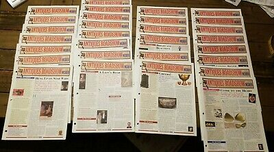 HUGE Lot of 33 Antiques Roadshow Insider Publication Back Issues mixed 2002-2006