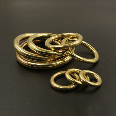 Solid BRASS RINGS Seamless ~Old World Charm~ Choose from 10 Ring Sizes!