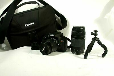 71423) Canon Rebel T6 DSLR Camera with 2 Lenses! ,18-55mm, 75-300mm, +MORE...