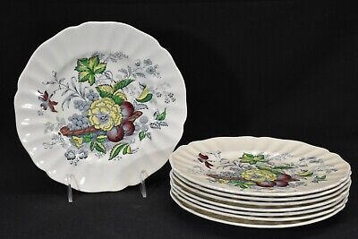 Royal Doulton The Kirkwood Multicolor D5130 Set of 8 Salad Plates
