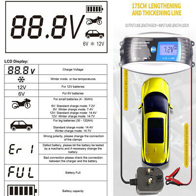Car & Motorbike Battery Charger Ultimate Speed 6V 12V Short Circuit 7 Stages 4A