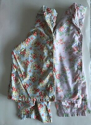2 x Cath Kidston Long Sleeved Floral Pajama Tops