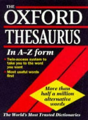 The Oxford Thesaurus by Urdang, Laurence