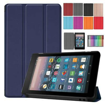 """For Amazon New Fire 7"""" 2019 9th Generation Smart Leather Flip Case Stand Cover"""