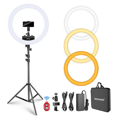 Neewer 18 inches Dimmable LED Ring Light Kit for Portrait Makeup Video Shooting