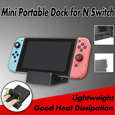 Mini Portable TV HDMI USB Video Base Dock Stand for NS N-Switch Game