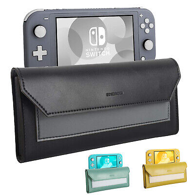 MoKo Travel Carry Case Storage Bag Magnetic Slim Pouch for Nintendo Switch Lite