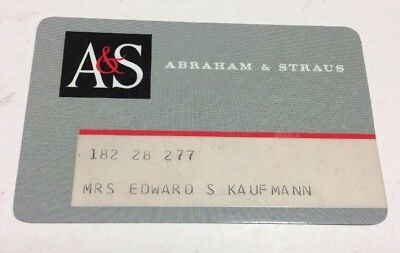 A&S Abraham and Straus Department Store 1970's Vintage Collectors Credit Card