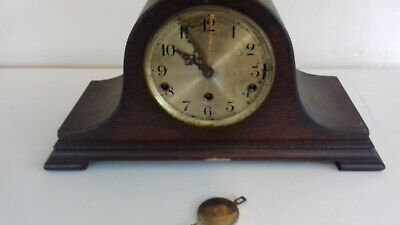 wooden mantle clock vintage spares