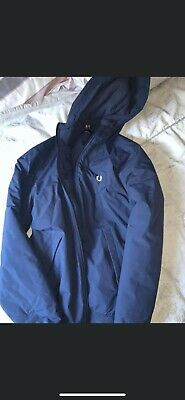 Fred Perry Blue Thick Jacket Youths Large