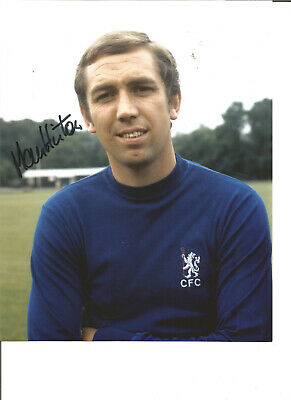 Football Autograph Marvin Hinton Chelsea FC Signed 10x8 inch Photograph JM232