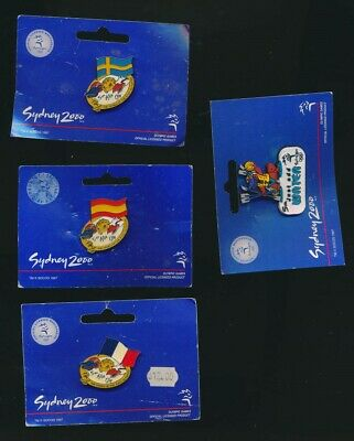 Australia: 2000 Sydney Olympic Pin Lot of 4