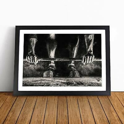 Body Building Weights Wall Art Framed Print Picture