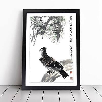 Eagle Flowers Floral Animal Asian Bird Zha Shibiao Wall Art Framed Picture Print