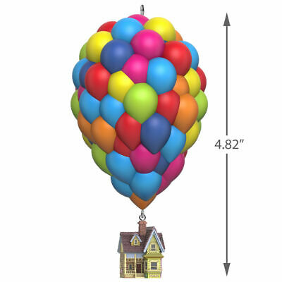 NEW DISNEY/PIXAR 10th ANNIVERSARY UP HOUSE w BALLOONS ORNAMENT PLAY THEME MUSIC