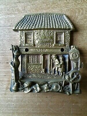 Antique Brass Door Knocker Old Victorian Vintage Small Portsmouth St Curiosity
