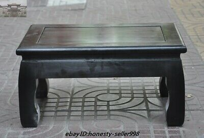 Old Chinese Dynasty Black Rosewood Wood Carved Book table tea desk Side Tables