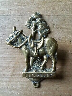 Vintage Brass Door Knocker Clovelly Donkey Animal Mule Small Antique