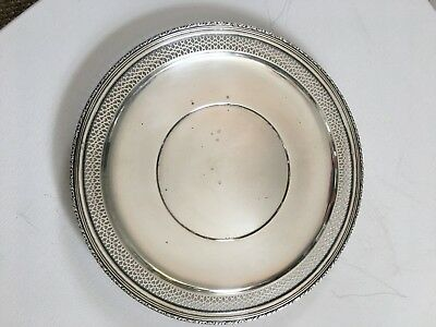"""LUNT Sterling Silver Charger, SP-2, 9 1/2"""" 212g pierced rim"""