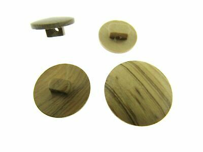 Plain Shank Olive Wood Buttons - CW4 - Four Sizes Available