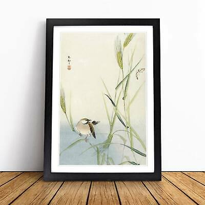 Bird & Butterfly Flowers Floral Asian Ohara Koson Wall Art Framed Picture Print