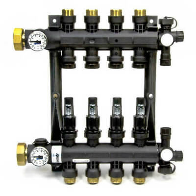 UPonor Wirsbo EP Heating Manifold Assembly with Flow Meter A2670401