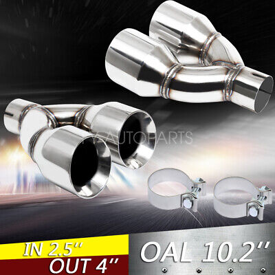 "2pcs Dual 4/"" Quad Tail Pipes Stainless Steel Exhaust Tips Camaro Firebird Trans"