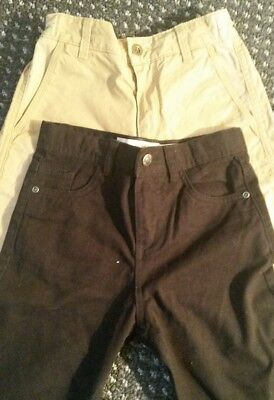Brand new M&S Boys Jeans (2pairs) size 8/9 & 9/10yrs. Black & Light Brown.