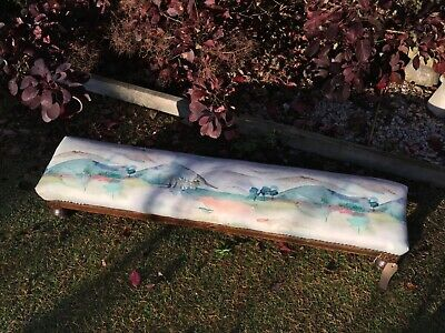 Vintage Prayer / Fender Footstool stool bench early Victorian long john low foot