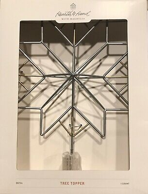 Hearth & Hand Magnolia 3D Metal MORAVIAN STAR TREE TOPPER Christmas NEW