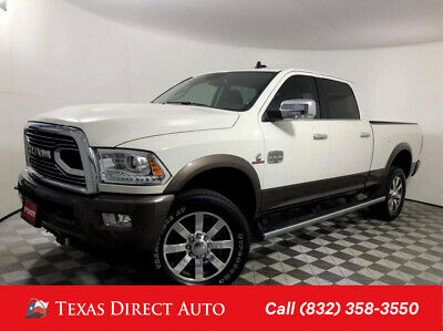 2018 Ram 2500 Longhorn Texas Direct Auto 2018 Longhorn Used Turbo 6.7L I6 24V Automatic 4WD Pickup