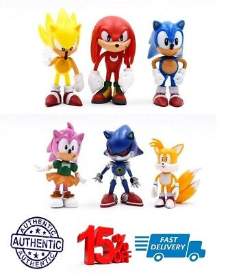 Sonic The Hedgehog Kids Toy PVC 6pcs Action Figure Set Christmas Gift Games/Game