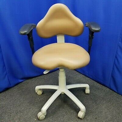 Brewer Dental Doctor Stool with Optional Arm Rests and Ultraleather 9100B