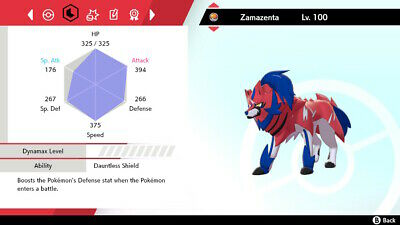 Pokemon Sword Shield / Zamazenta + Rusted Shield / 6IV Max EVs / Fast delivery!!