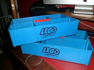 2 Vintage Lego System Storage Boxes / Trays With Handles