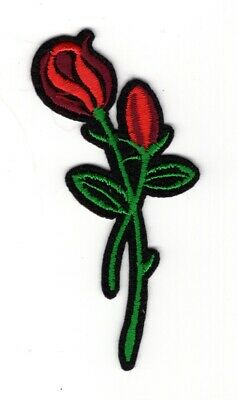 Red Rose embroidery patch (Lot of 2)