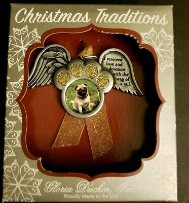 Pets Angle Wings Christmas Ornament Gloria Duchin Memorial Remembrance Paw NEW