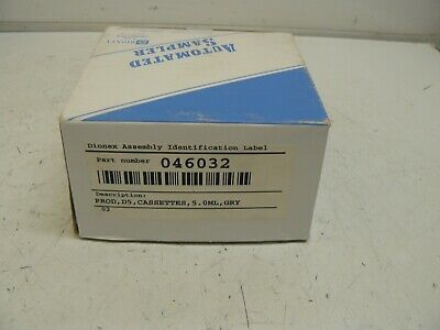 Dionex Thermo Scientific As40 Autosampler 5Ml Cassettes 046032 Pack Of 3 New