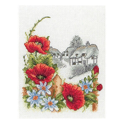 ANCHOR | Counted Cross Stitch Kit: Summer Days Poppies | PCE559